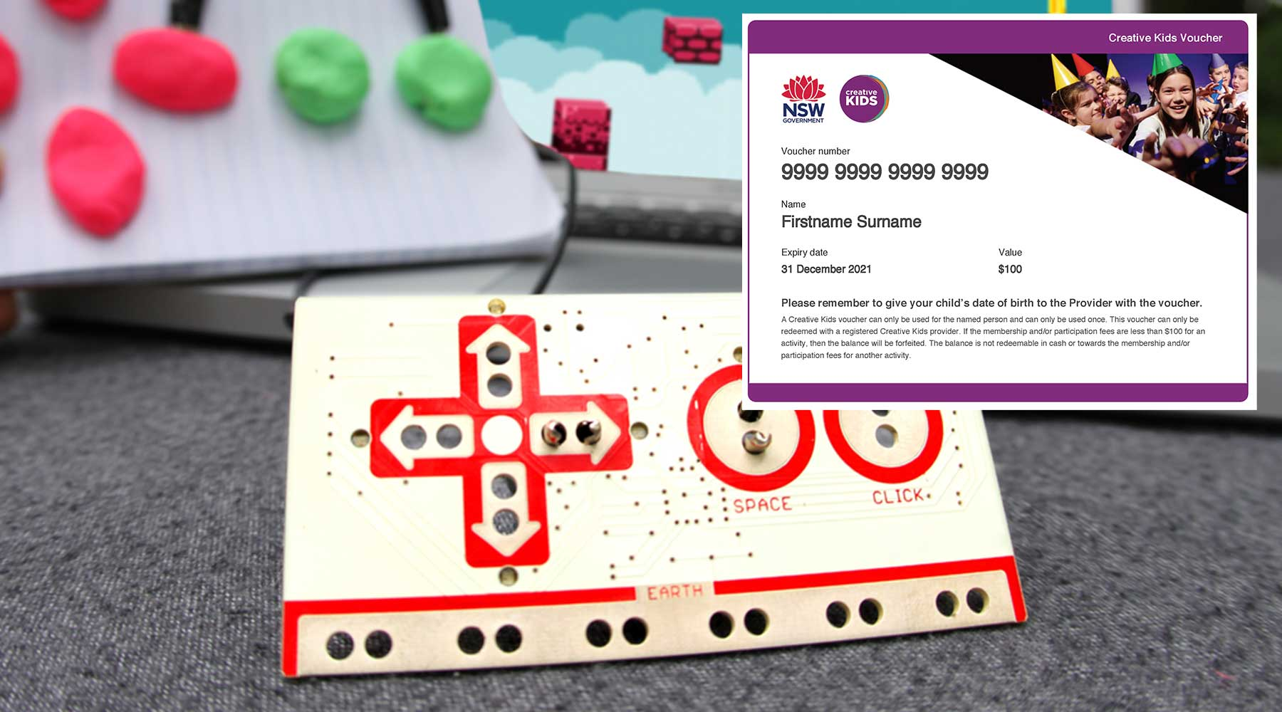 Creative Kids Online Academy - Makey Makey Level 1 with Creative Kids Voucher