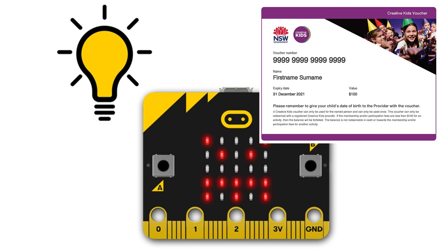 Creative Kids Online Academy - micro:bit Level 1 with Creative Kids Voucher