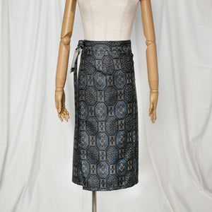Reversible Skirt Medium Straight - Fiori - Oshima