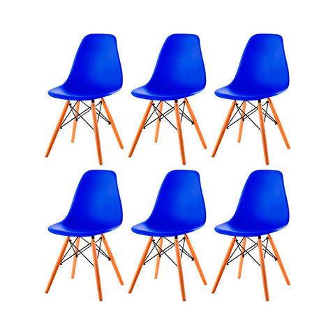 Image of Set x6 Sillas Eames Tradicional