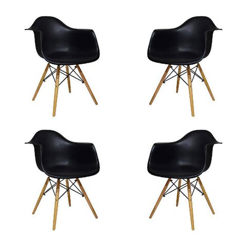 Set x4 Sillas Eames Reposabrazos