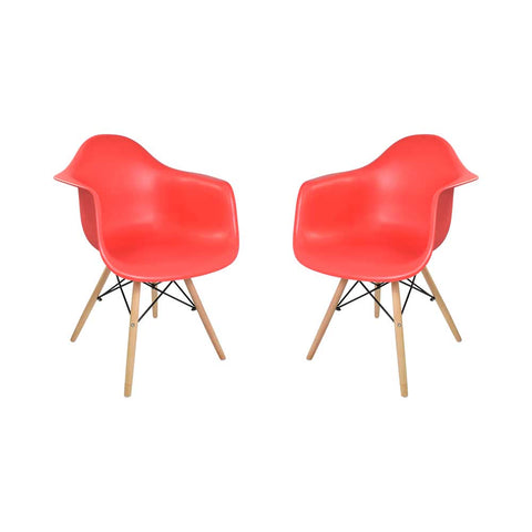 Set x2 Sillas Eames Reposabrazos