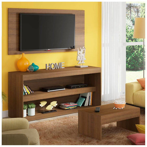 Mueble con Panel para TV y Mesa de Centro Flórida