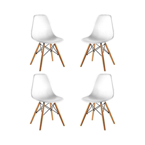 Image of Set x4 Sillas Eames Tradicional
