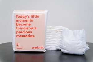 Sprouted Diapers - 7 Packs Subscription 75% Off