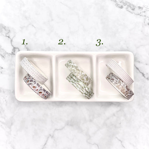 Washi Tape 1cm x 3m - Pack of Two (Nature)