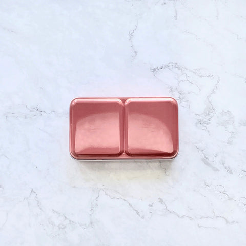 Tin palette, travel tin palette, palettes, watercolour travel palette, compact, coral red