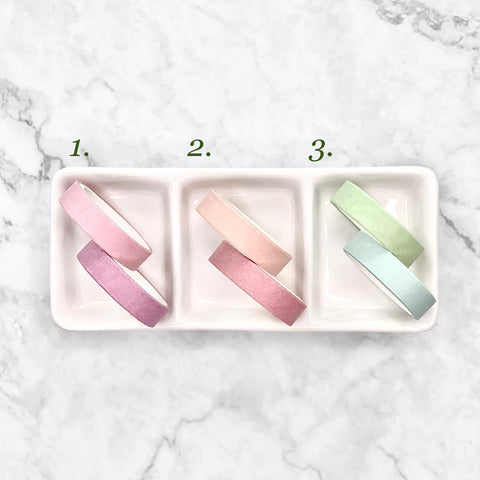 Washi Tape 1cm x 3m - Pack of Two (Pastel pink & green)