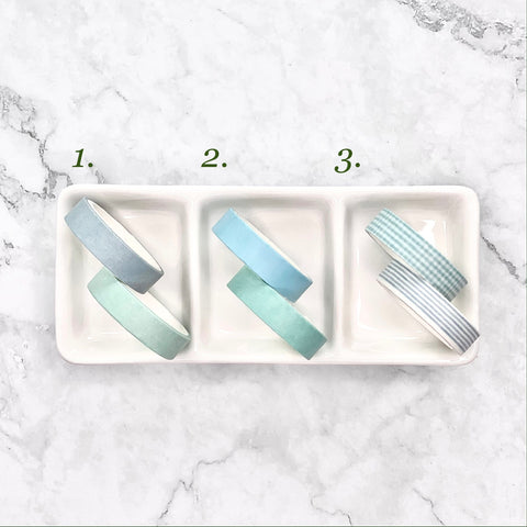 Washi Tape 1cm x 3m - Pack of Two (Pastel blue)
