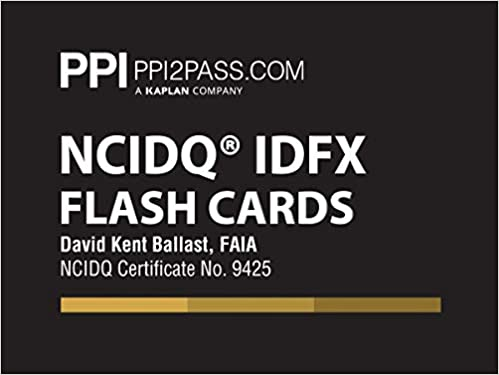 PPI NCIDQ IDFX Flash Cards, 1st Edition (Cards) – More Than 200 Flashcards for the NCDIQ Interior Design Fundamentals Exam