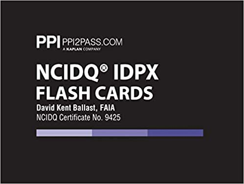 PPI NCIDQ IDPX Flash Cards, 1st Edition (Cards) – More Than 200 Flashcards for the NCDIQ Interior Design Professional Exam