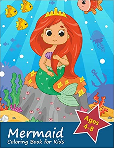 Mermaid Coloring Book for Kids Ages 4-8: Gorgeous Coloring Book with Mermaids and Sea Creatures