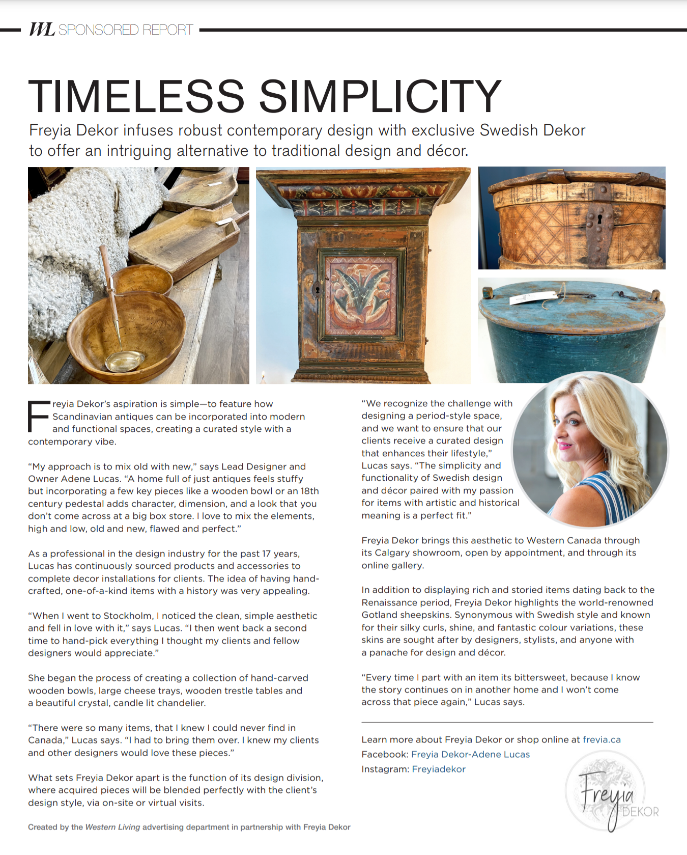 Western Living Magazine 1 Page