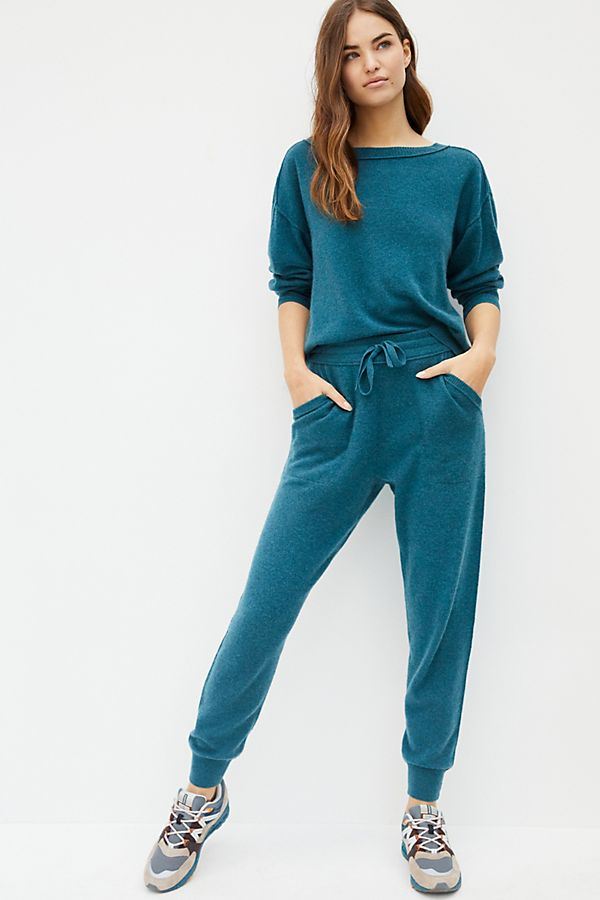 Daphne Cashmere Joggers in turquoise by Anthropologie, £97