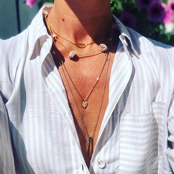 Layered jewellery looks for summer