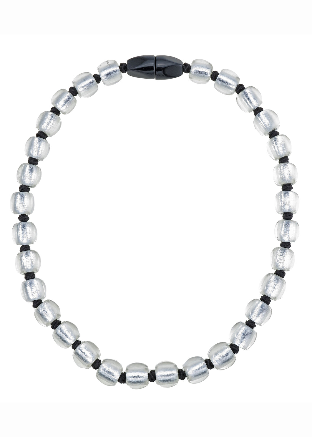 Precious Necklace - 30 Beads - Silver