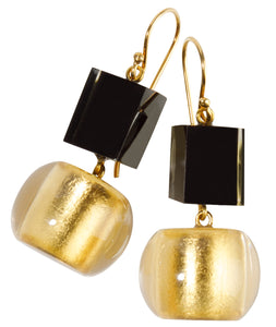 Precious Earrings - Short Hook Double Layer - Gold