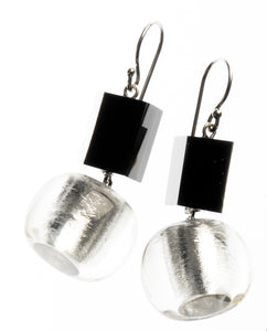 Precious Earrings - Short Hook Double Layer - Silver
