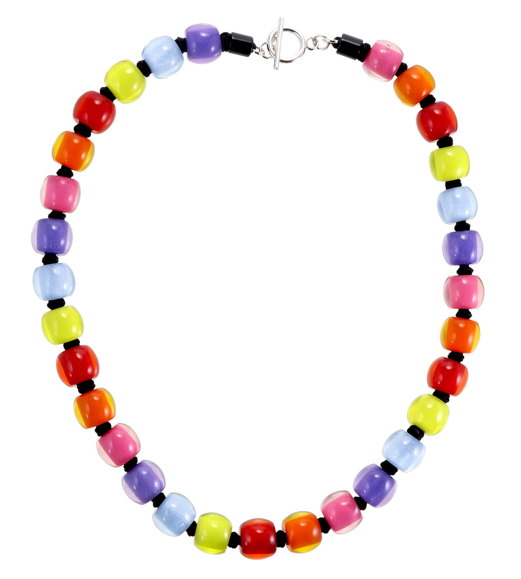 Colourful Beads Necklace - Winter Spectrum - 30 Beads