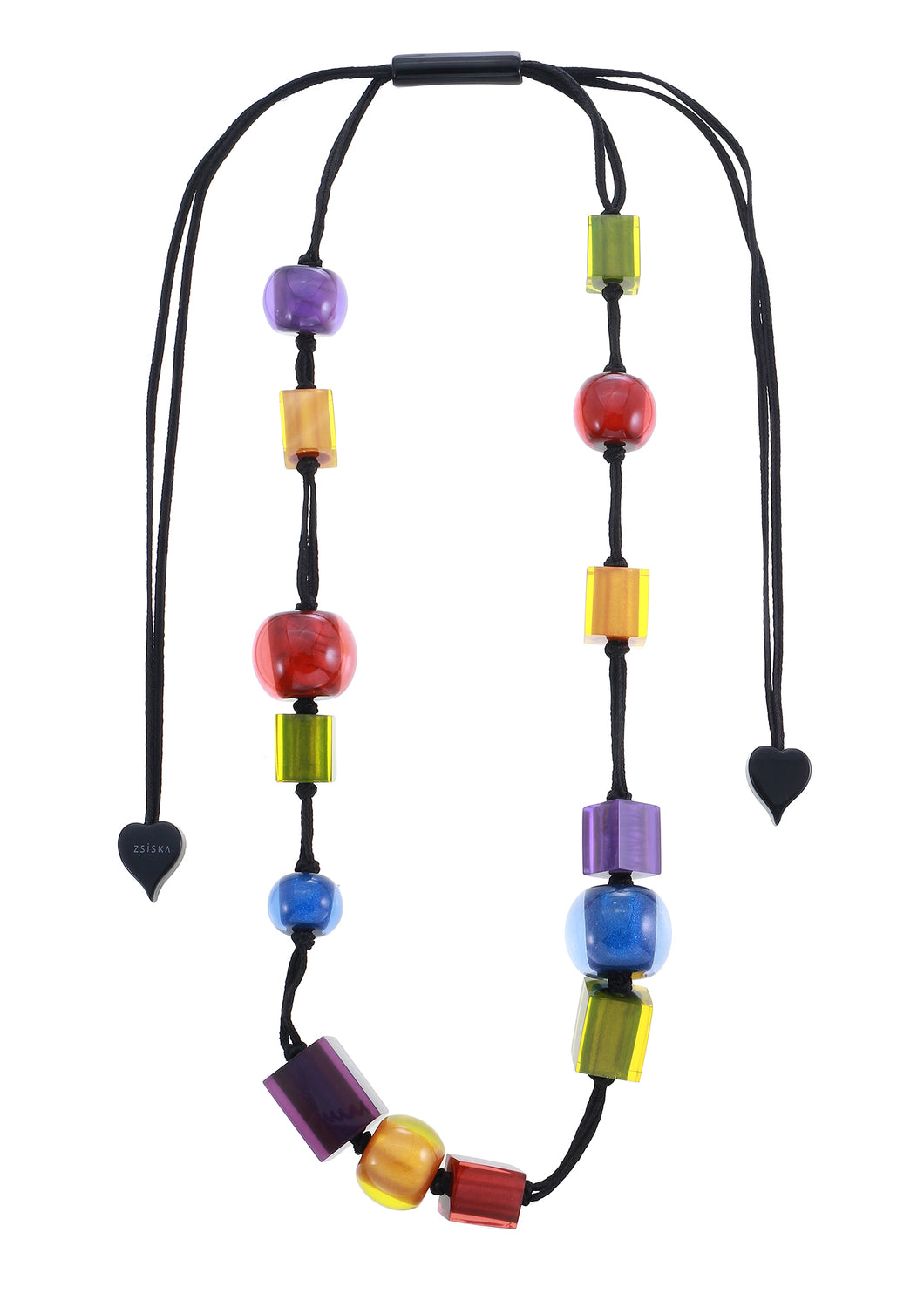 Colourful Beads Necklace - Winter Spectrum - 14 Beads