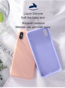 Luxury Skin-friendly Liquid Silicone Case For Huawei P10 P20 P30 Lite Plus Pro Honor 9 10 V10 V20 Mate 20 Back Cover Shockproof