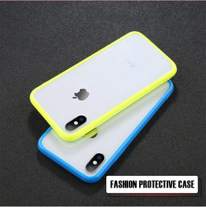 Transparent Simple Candy Color Phone Case For iphone 11 Pro X XR XS Max 6 6S 7 8 Plus