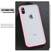 Load image into Gallery viewer, Transparent Simple Candy Color Phone Case For iphone 11 Pro X XR XS Max 6 6S 7 8 Plus