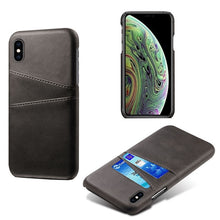 Load image into Gallery viewer, Leather Card Holder Phone Case For iPhone XR XS X 11 Pro MAX 7 8 Plus 6 6s PU Leather Case For iPhone XS MAX 4 4s 5 5s SE Cover