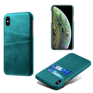 Leather Card Holder Phone Case For iPhone XR XS X 11 Pro MAX 7 8 Plus 6 6s PU Leather Case For iPhone XS MAX 4 4s 5 5s SE Cover