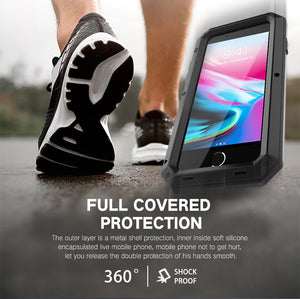 Heavy Duty Protection Metal Aluminum phone Case for iPhone 6 6S 7 8 Plus XS Max XR X 5S 5