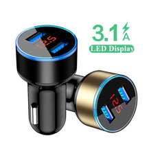 Load image into Gallery viewer, Car-Charger For iPhone 11 Pro 7 8 & for Xiaomi and Samsung , Mobile Phone Adapter Car Charger 3.1A LED Display USB Phone Charger
