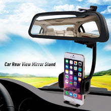 Load image into Gallery viewer, Car Rearview Mirror Mount Phone Holder For iPhone Samsung GPS