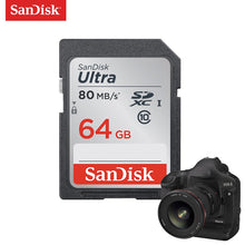 Load image into Gallery viewer, SanDisk Ultra Original SD card 8GB 16GB 32GB SDHC 64GB 128GB 256GB SDXC Class10 Memory Card C10 R80mb/s USH-1 Support for Camera