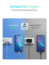 Load image into Gallery viewer, 18W USB PD Charger Quick Charge 3.0 EU AU UK US Plug Power Adapter For Macbook iphone 11 Pro Samsung S20 USB Type C Charge Cable