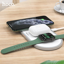 Load image into Gallery viewer, HOCO 3 in1 Wireless Charger for iphone 11 Pro X XS Max XR for Apple Watch 5 4 3 2 Airpods Pro Fast Charger Stand For Samsung S20