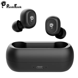 TWS V5.0 Bluetooth Earphones Wireless In-Ear Sports headset with Dual Microphones With Charging box