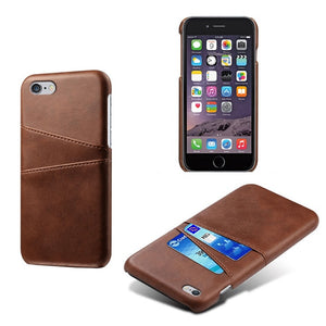 Leather Case Card Slots Holder Phone PU For iPhone 4 4s 5 5s 5c SE 6 6S 7 8 Plus X XS XR XS MAX 11 Pro MAX