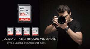 SanDisk Ultra Original SD card 8GB 16GB 32GB SDHC 64GB 128GB 256GB SDXC Class10 Memory Card C10 R80mb/s USH-1 Support for Camera