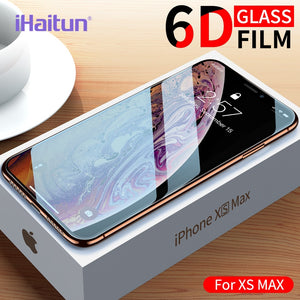 Screen Protector 6d Curved Tempered Glass For iPhone X 10 7 8 Plus Cover Film