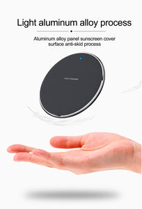 10W Fast Wireless Charger For iPhone X XR 11 Pro Max Qi Wireless Charger Pad For Samsung S10 S9 Xiaomi USB Phone Qi Charger Pad