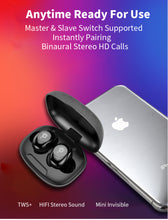 Load image into Gallery viewer, TWS V5.0 Bluetooth Earphones Wireless In-Ear Sports headset with Dual Microphones With Charging box