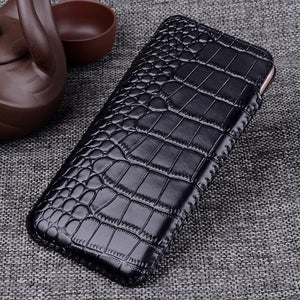 Real Leather Pull Sleeve Pouch Phone Case for Apple iphone 7 8 Plus X Xs XR Xs Max