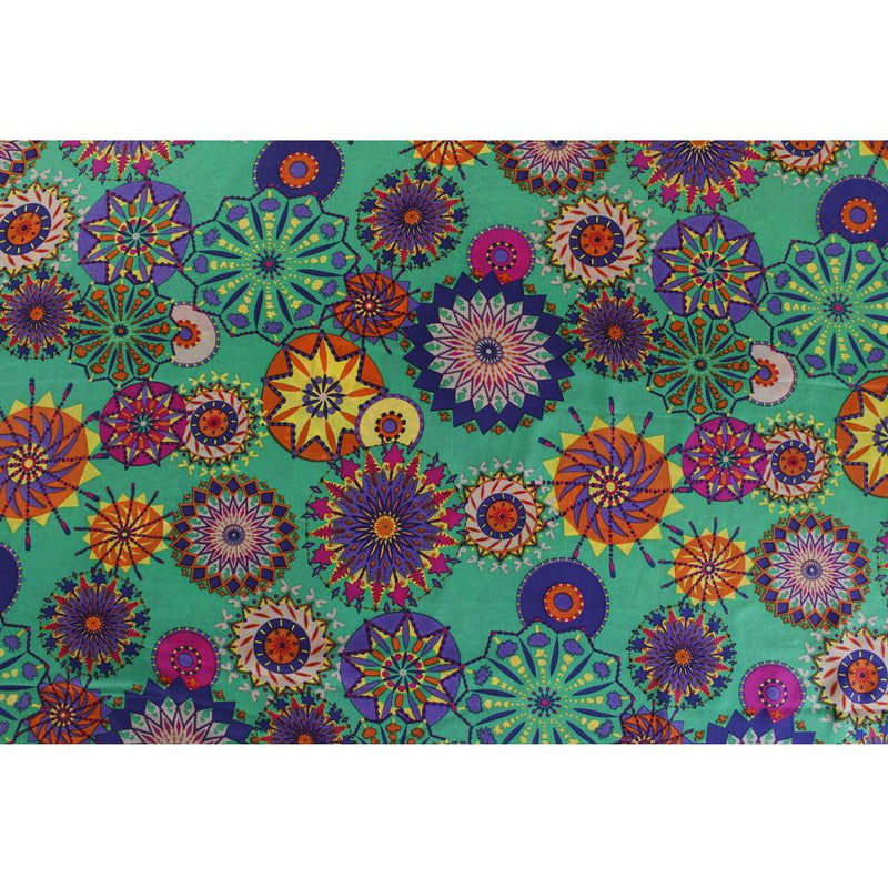 FFAB Remnant Collection | Print on Poly Crepe Fabric | Multi Color | 2.50 Mtr Piece