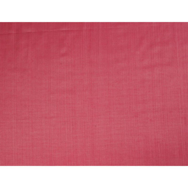 FFAB Remnant Collection | Tussar Chanderi Fabric | Pink Color | 2.40 Mtr Piece
