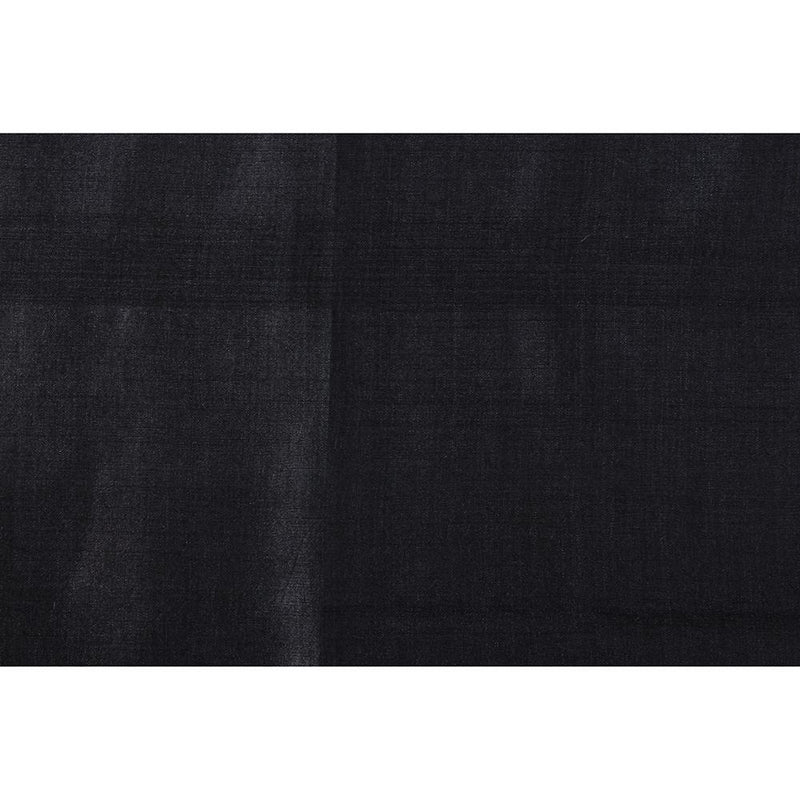 FFAB Remnant Collection | Tussar Muga Silk Fabric | Black Color | 2.20 Mtr Piece