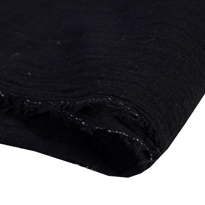 FFAB Remnant Collection | Cotton Matka Fabric | Black Color | 1.70 Mtr Piece
