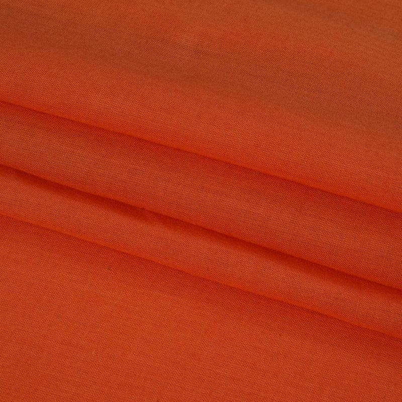 FFAB Remnant Collection | Cotton Mulmul Fabric | Carrot Color | 1.50 Mtr Piece