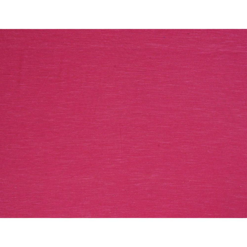 FFAB Remnant Collection | Natural Noile Silk Fabric | Fuscia Color | 2.70 Mtr Piece