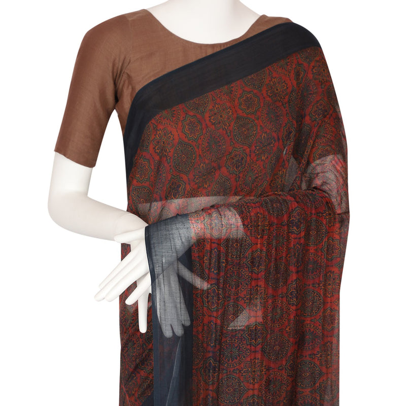 FFAB Saree Collection | Digital Printed Chanderi Saree Without Blouse Piece | Multi Color