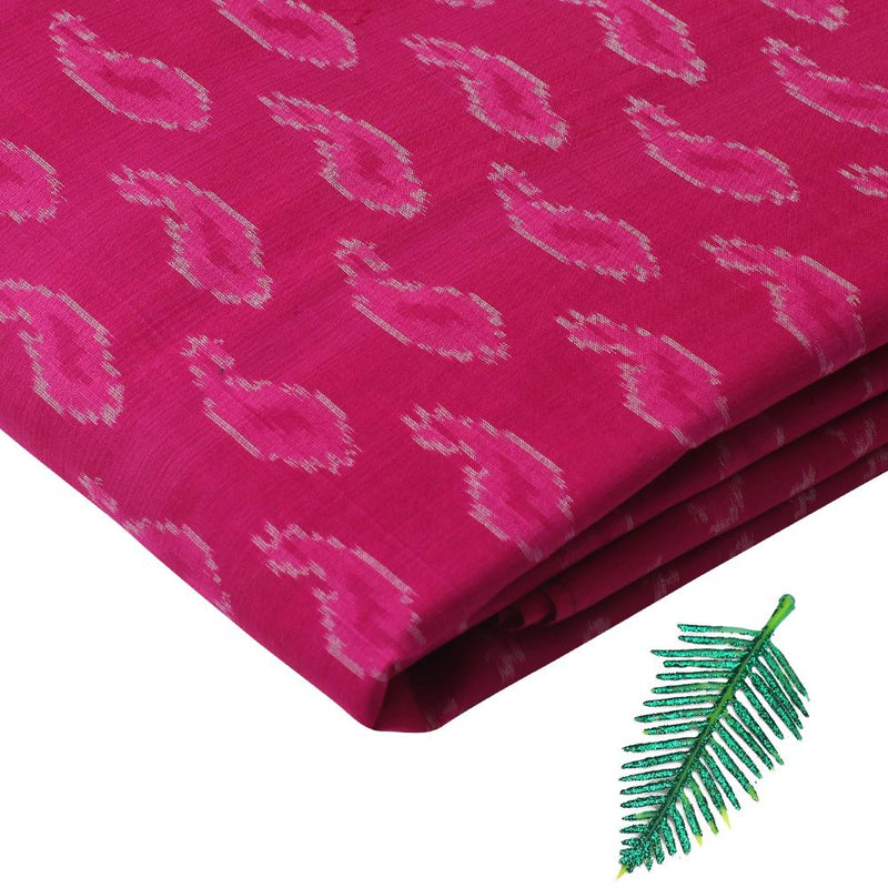 FFAB Fabric Collection | Handwoven Ikat Sico Silk Fabric | Magenta Color